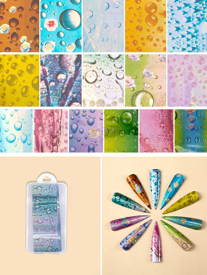 Shop Flowers Pattern Nail Beauty Transfer Papers Set