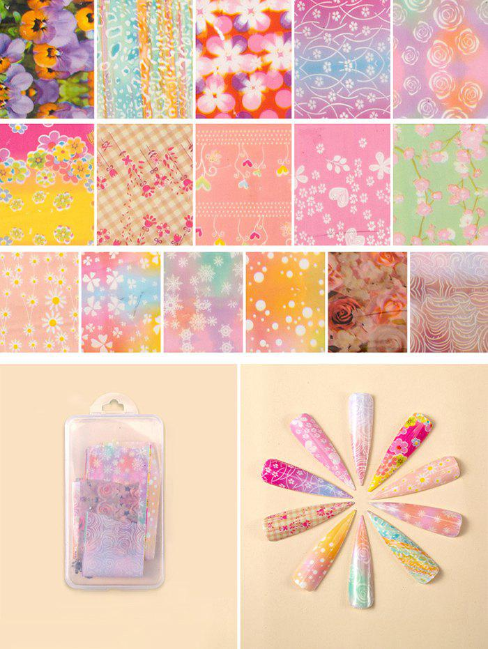 Online Flowers Pattern Nail Beauty Transfer Papers Set
