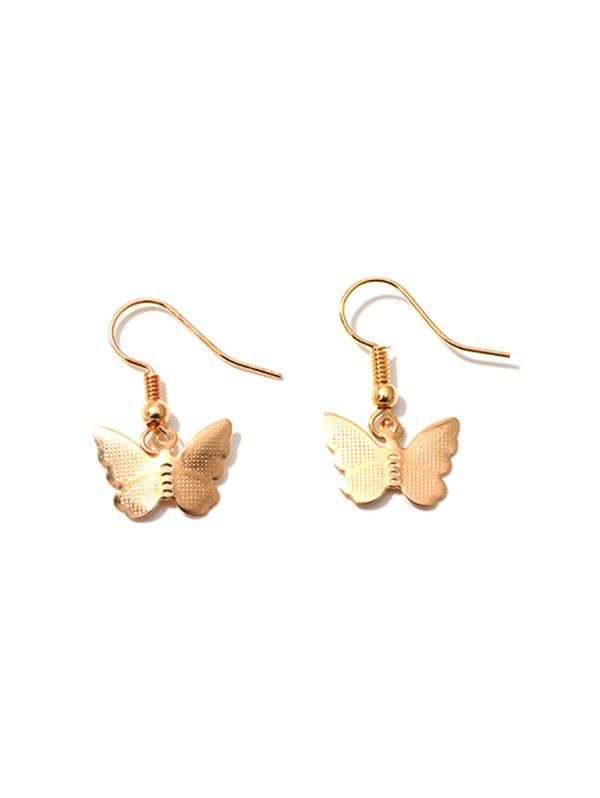 Fancy Pair of Butterfly Shape Drop Earrings