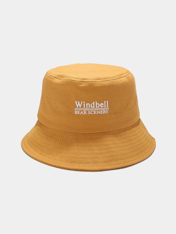 Chic Windbell Embroidery Casual Bucket Hat