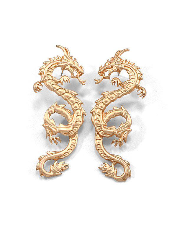 Outfits Carved Dragon Pattern Stud Earrings