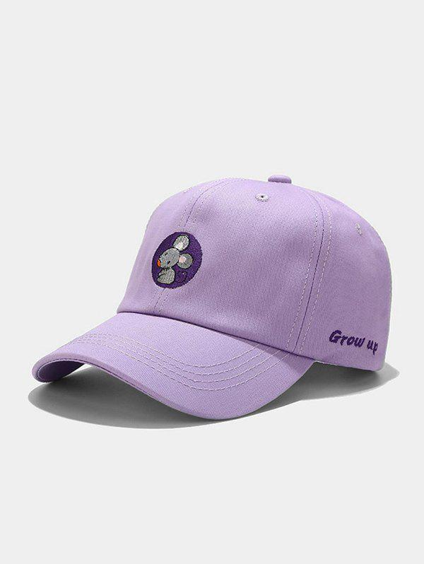 Trendy Mouse Embroidery Casual Baseball Cap