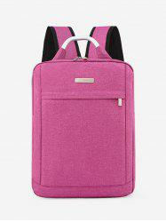 Solid Color Large Capacity Laptop Backpack -