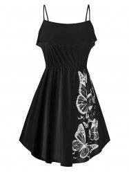 Ruffled Butterfly Print Cami Top -