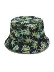 Leaf Allover Print Bucket Hat -