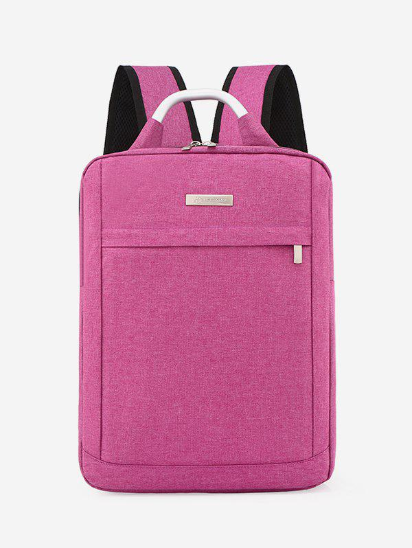 Outfit Solid Color Large Capacity Laptop Backpack