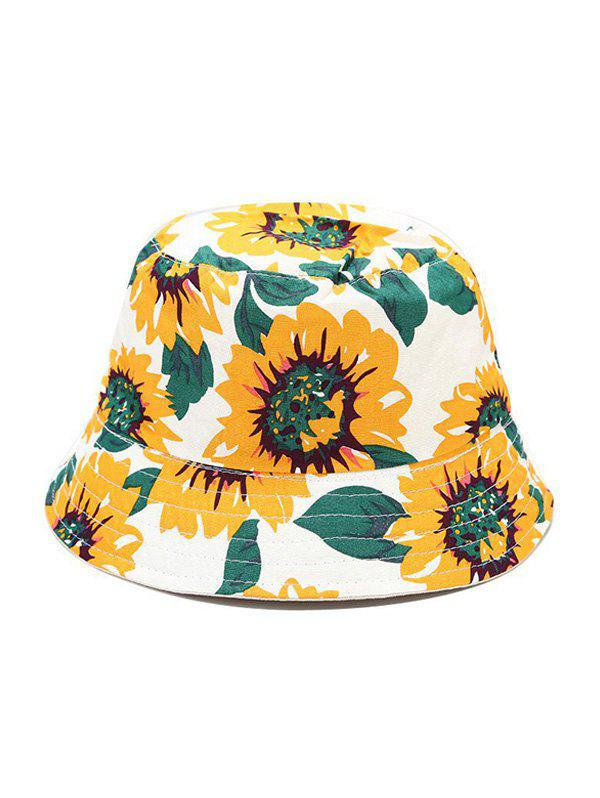 Affordable Sunflower Print Reversible Outdoor Bucket Hat