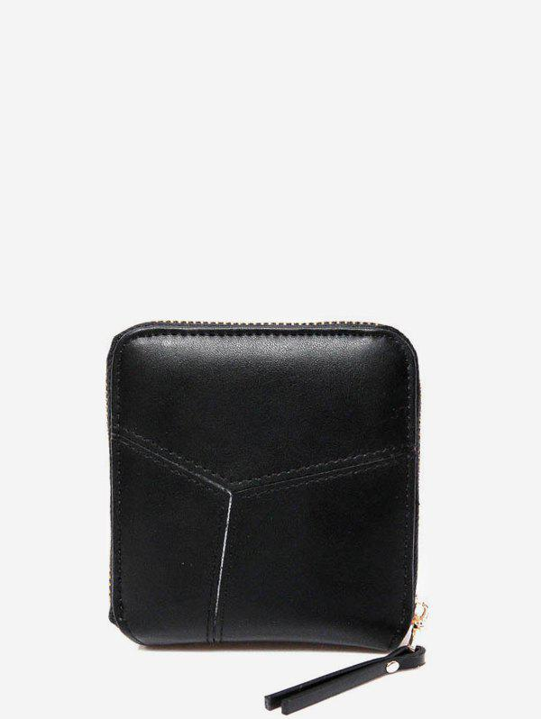 Discount Pure Color Leather Mini Wallet