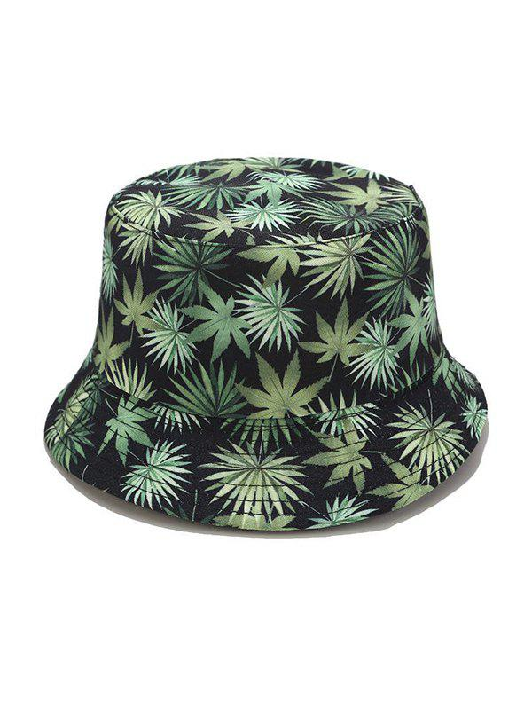 Latest Leaf Allover Print Bucket Hat