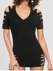Ripped Cut Out Gothic T-shirt -