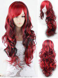 Cosplay Long Oblique Bang Body Wave Ombre Synthetic Wig -