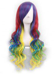Cosplay Gradient Long Body Wave Side Bang Synthetic Wig -