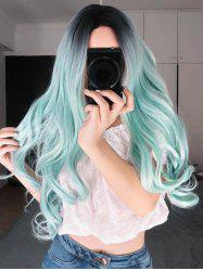 Gradient Cosplay Long Center Part Body Wave Synthetic Wig -
