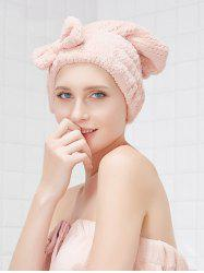 Bowknot Hair Dry Water Absorbent Towel Hat -
