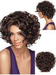 Short Curly Hair Fluffy Heat Resistant Fiber Synthetic Wig -