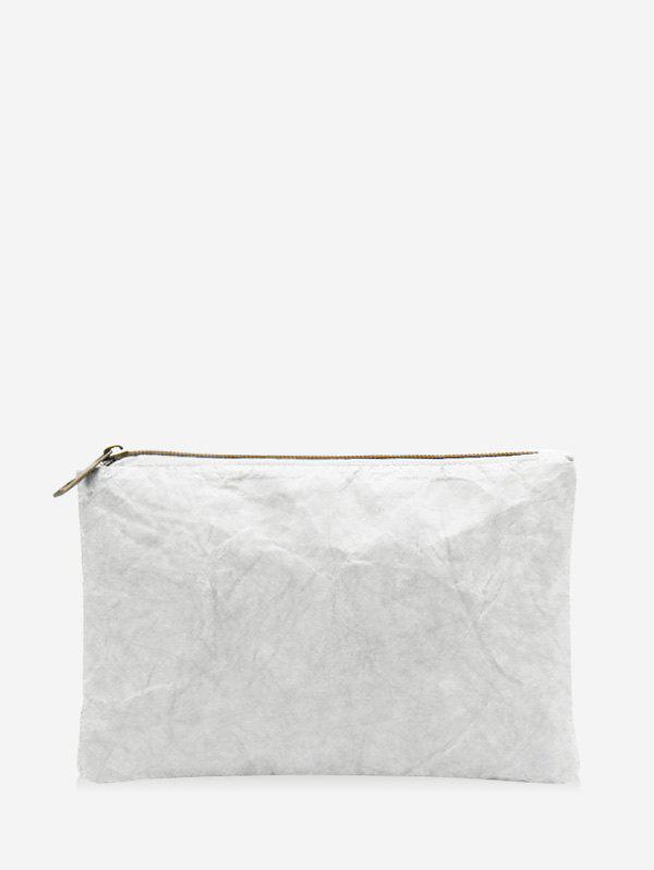 Pochette Simple Plissée Blanc
