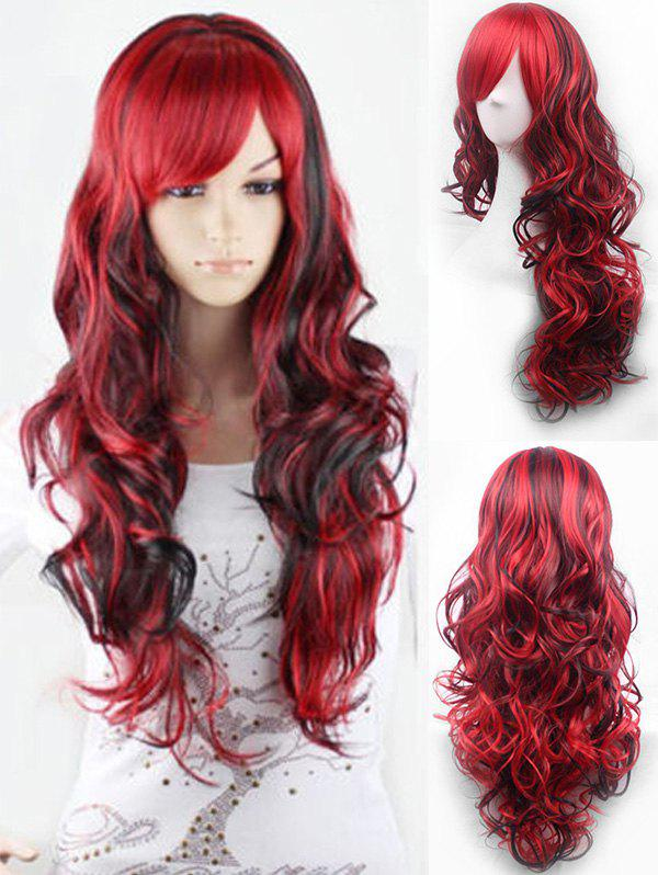 Outfits Cosplay Long Oblique Bang Body Wave Ombre Synthetic Wig