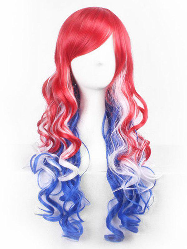 Best Anime Cosplay Side bang Long Body Wave Synthetic Wig