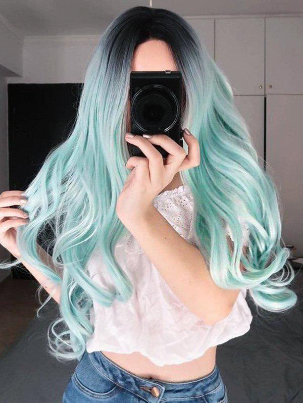 Discount Gradient Cosplay Long Center Part Body Wave Synthetic Wig