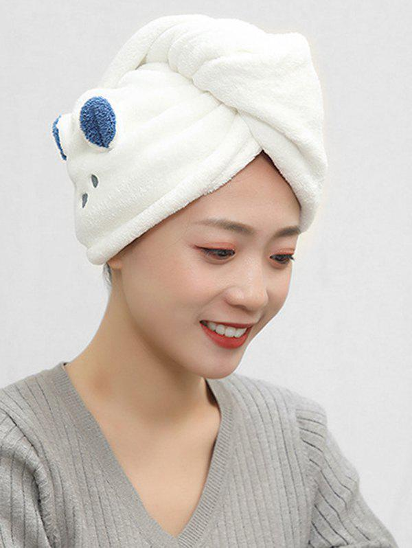 Trendy Cartoon Animal Pattern Dry Hair Water Absorbent Towel Hat