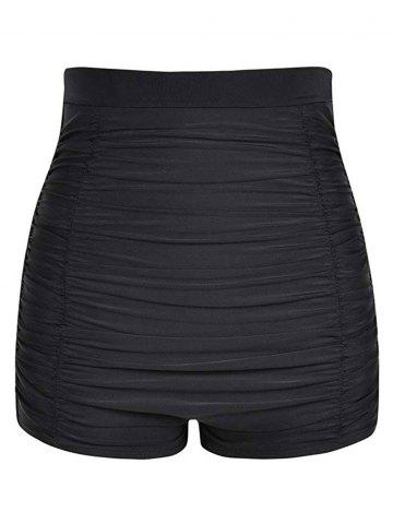 Ruched High Rise Swim Bottom