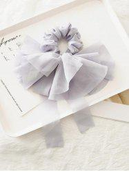 Solid Color Layered Bowknot Elastic Scrunchie -