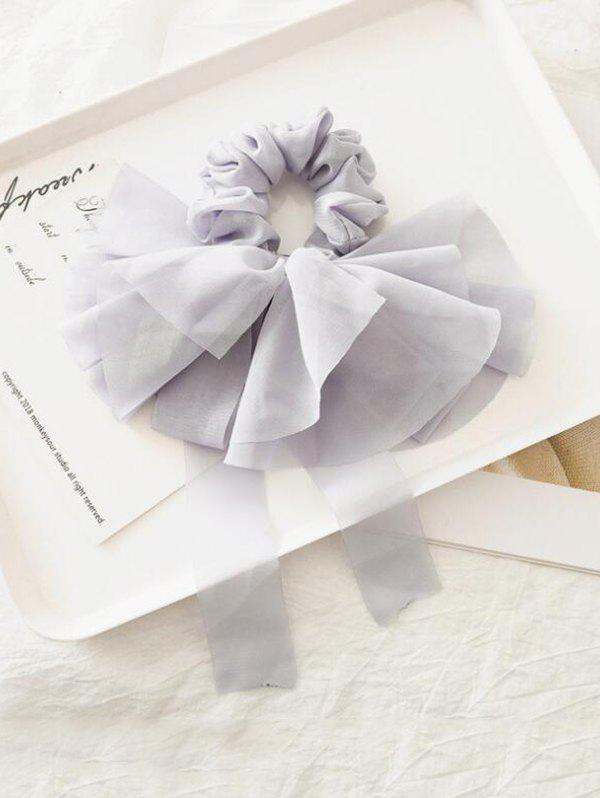 Chic Solid Color Layered Bowknot Elastic Scrunchie