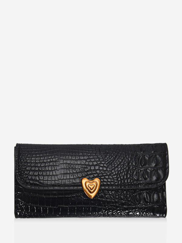 Discount Heart Textured Tri-fold Multi-function Clutch Wallet