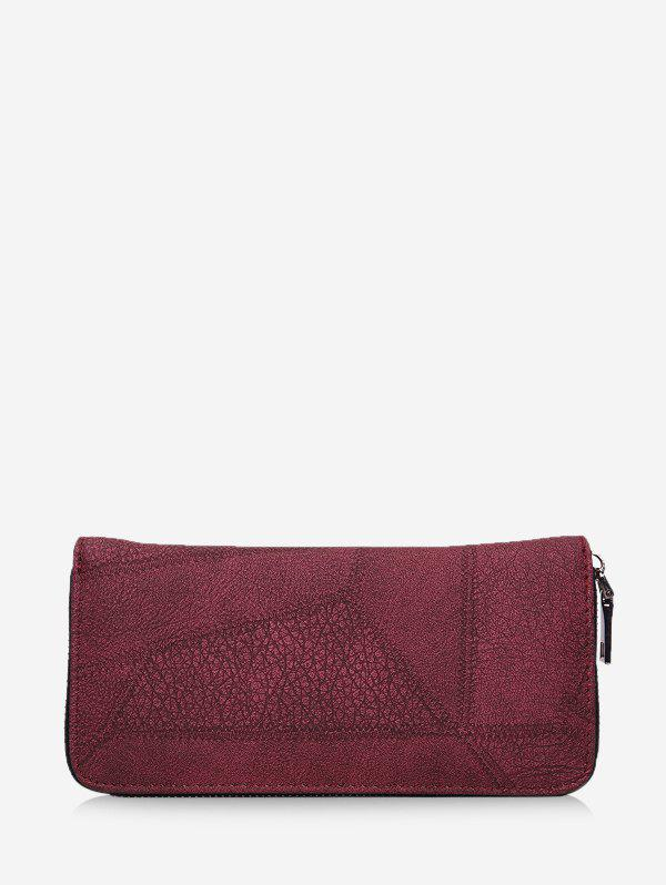 Affordable Retro Zipper Textured Clutch Bag