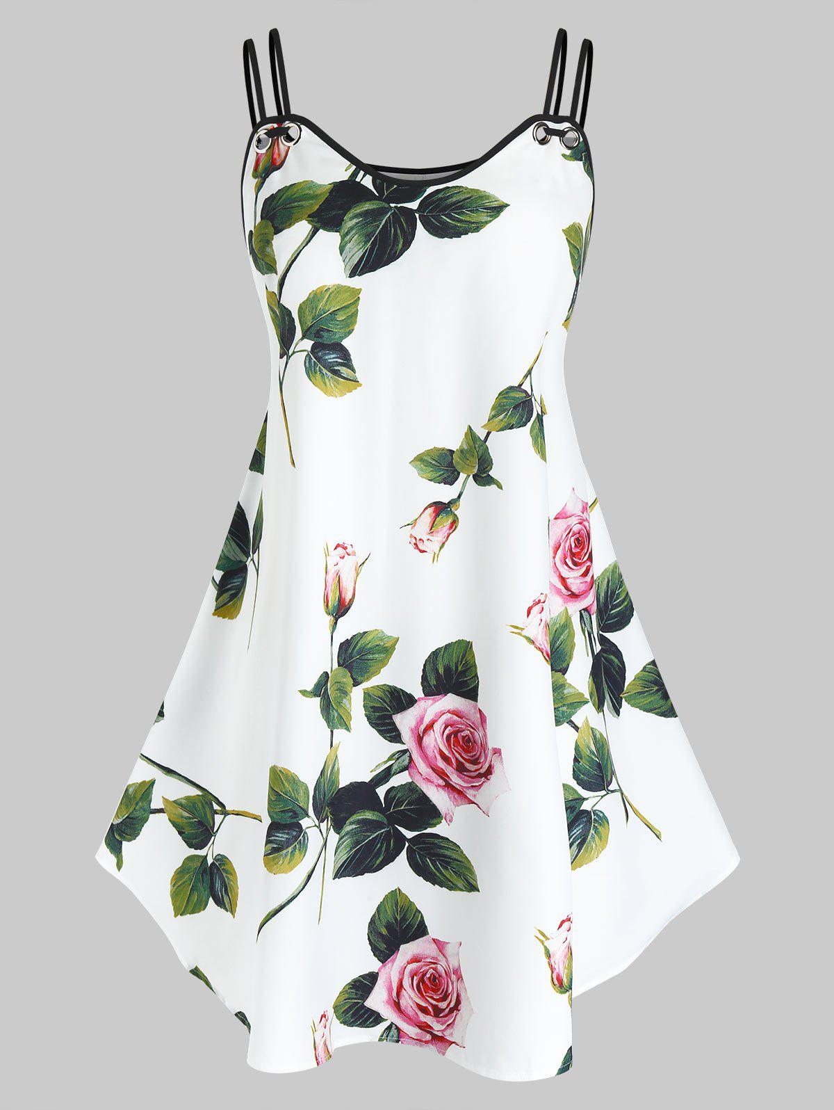 Outfit Plus Size Floral Print Cami Top