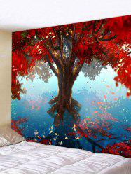 Tree Leaves Pattern Hanging Wall Tapestry -