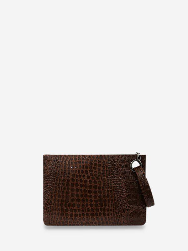Shop Animal Embossed Leather Wrist Clutch Wallet