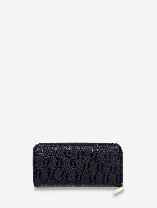 Hot Chain Embossed Leather Long Clutch Wallet