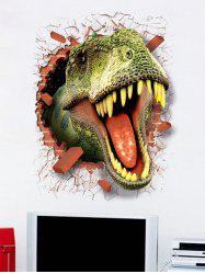 Dinosaur Pattern Waterproof PVC Removable Decorative Wall Stickers -