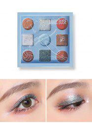 9 Color Matte Sequins Waterproof Eyeshadow Kit -