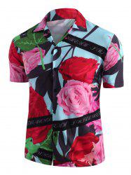 Flower Print Vacation Shirt -