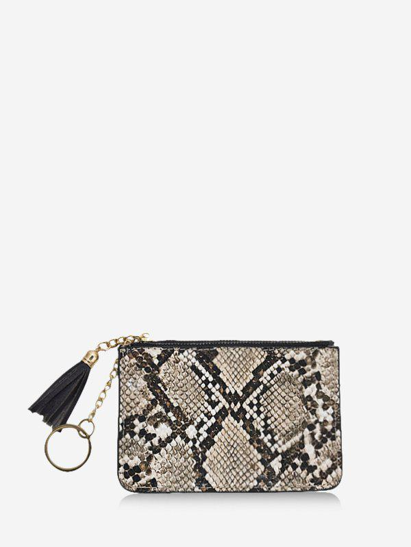 Unique Snakeskin Pattern Tassel Card Clutch Wallet