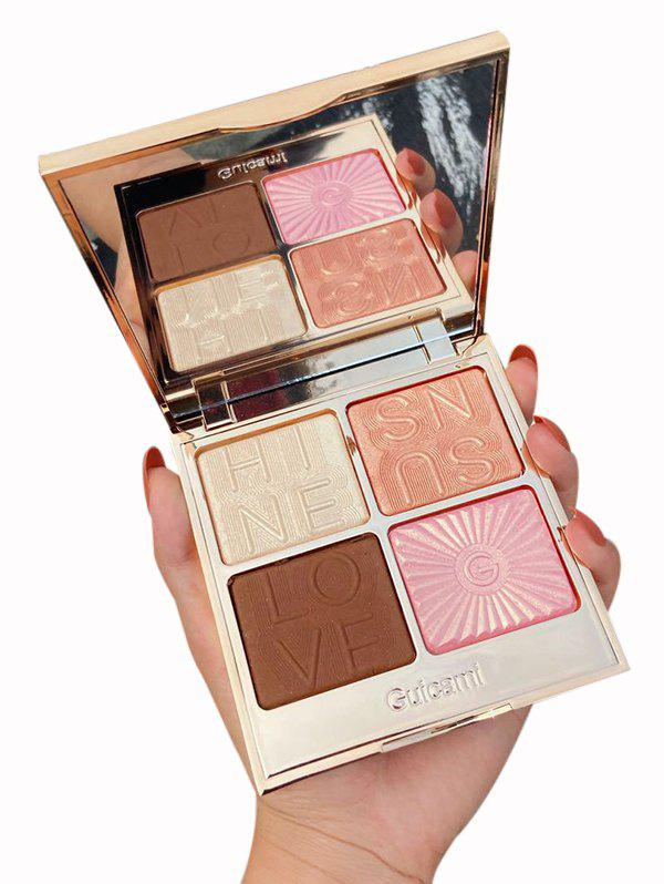 Hot 4 Colors Multi-purpose Highlighter Contour Powder Palette