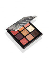 9 Colors Marble Glitter Matte Earth Colors Eyeshadow Palette -