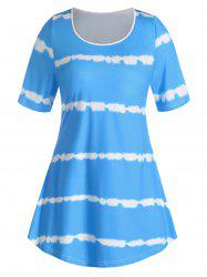 Plus Size Curved Tie Dye Tee -