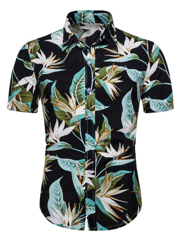 Outfits Flower Print Short Sleeve Hawaii Shirt