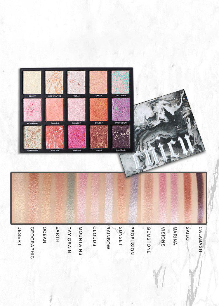 Chic 15 Colors Marble Eyeshadow Palette