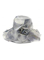 Water Color Floral Wide Brimmed Beach Sun Hat -