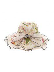 Floral Bowknot Design Bucket Hat -