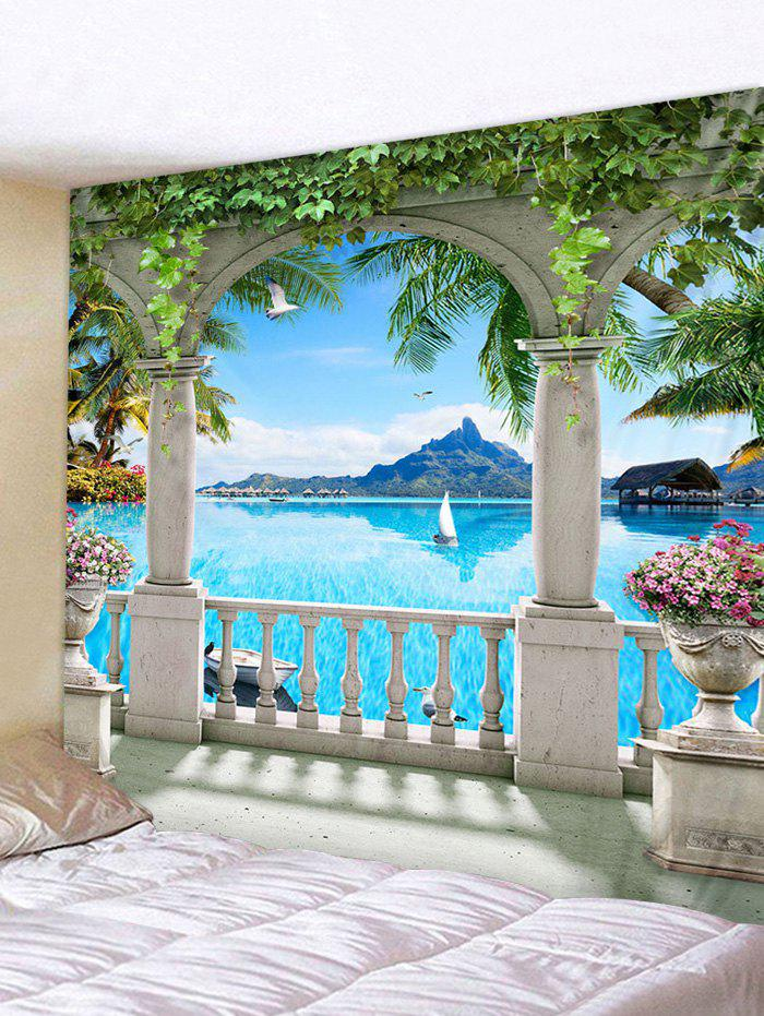 Outfits Seascape Handrail 3D Print Wall Tapestry