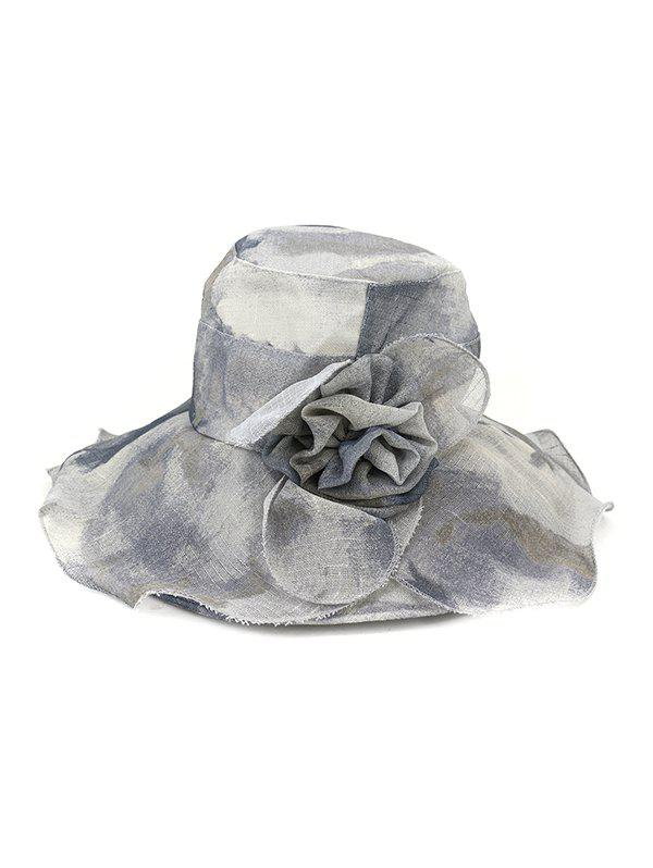 Online Water Color Floral Wide Brimmed Beach Sun Hat