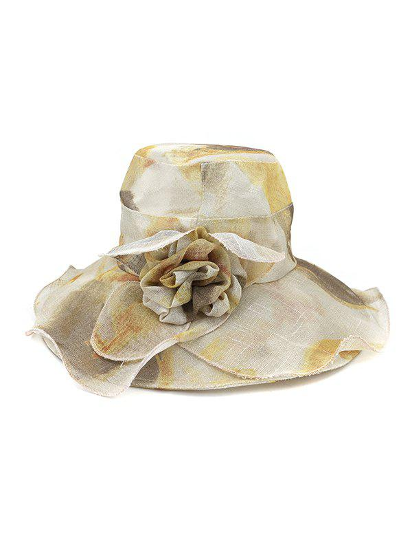 Buy Water Color Floral Wide Brimmed Beach Sun Hat