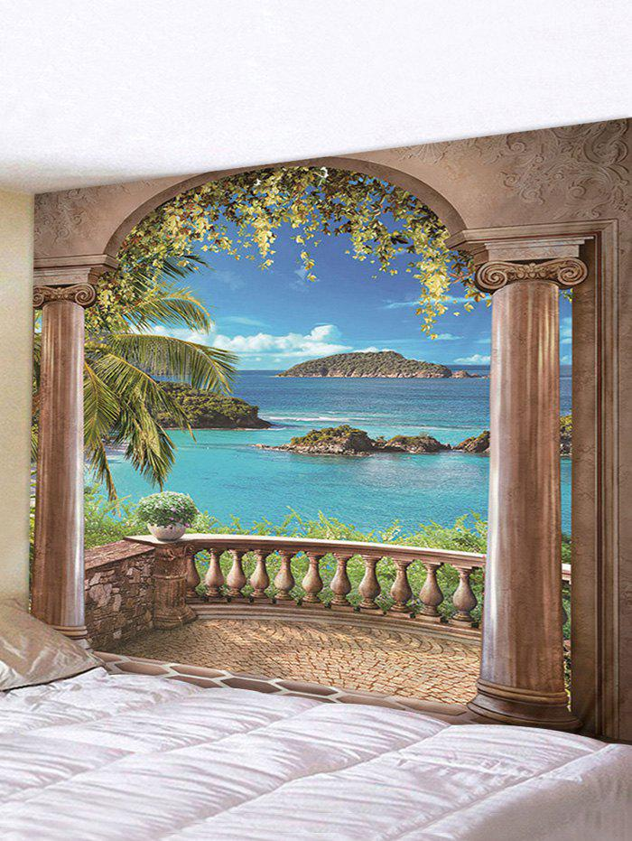 Shop Arches Sea 3D Printing Wall Tapestry