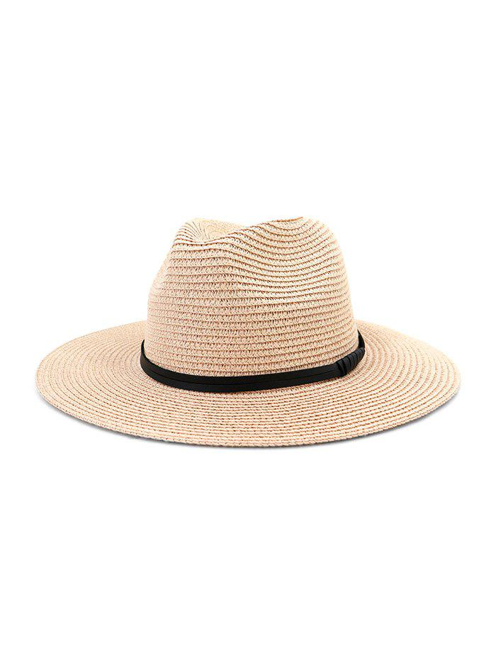 Outfit Jazz Straw Hat With Leather Detail