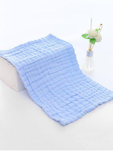 6 Layers Cotton Nursing Wash Saliva Baby Towel - BLUE - STRETCHED SIZE28*50CM